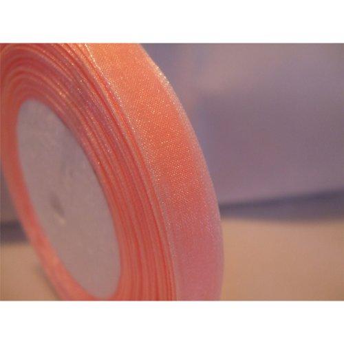 Organza Ribbon Roll - 10mm x 50 Yards (45 Metres) - Light Salmon