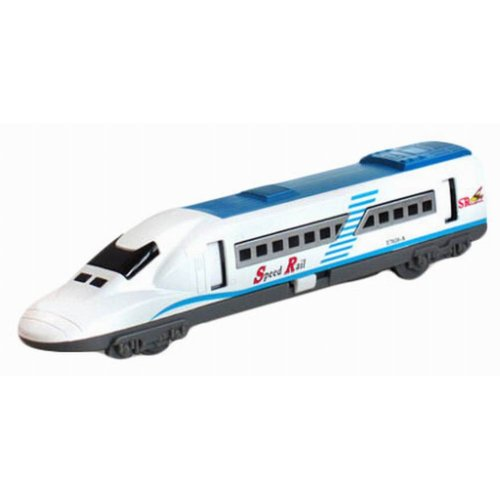 Simulation Locomotive Toy Model Trains Speed Rail, Blue(18*3.2*4.1CM)
