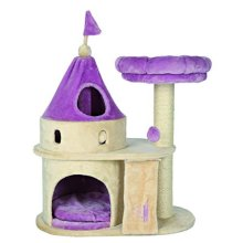 Trixie My Kitty Darling Scratching Castle, 90 Cm, Beige/lilac - Castle -  kitty my darling scratching castle beigelilac trixie 90 cm new