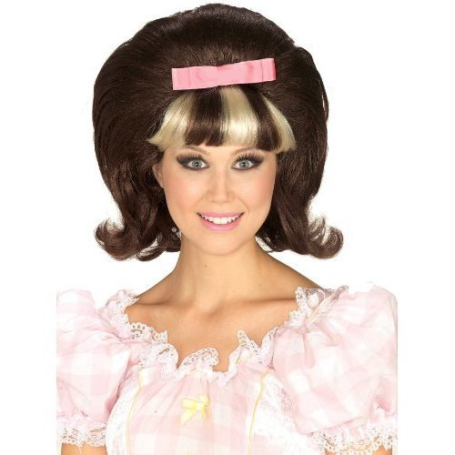 60s Princess BrownBlonde Combo Wig, One Size, BrownBlonde