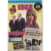 50th Golden Wedding Anniversary gift ~ Reminisce 1968 with DVD and Greeting Card