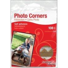 Pack Of 108 Craft Photo Corners - Kraft Paper Photo Corners Scrapbook Adhesives Self Adhesive Pack Of 108