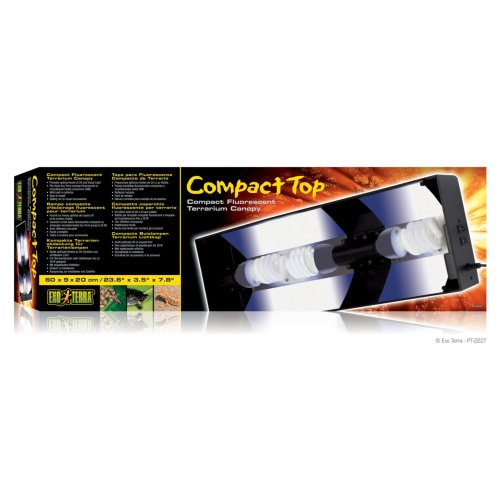 Exo Terra Compact Fluorescent Canopy Triple 60cm