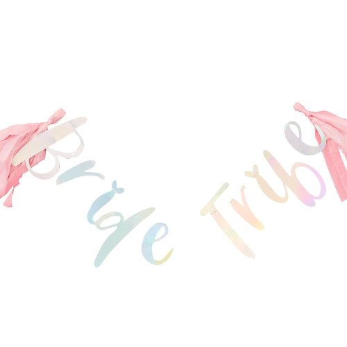 Iridescent 'Bride Tribe' Bunting 1.5m Hen Party