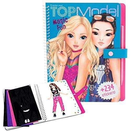 Top Model Magic Fun - Scratch Sticker Book Colouring