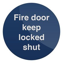 Fixman Fire Door Keep Locked Shut Sign 100 x 100mm Rigid - 100mm Fire Door Keep -  100mm fire door keep locked shut x rigid sign fixman 437046