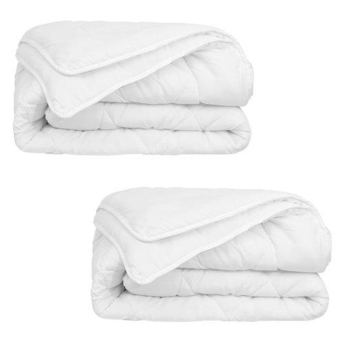 vidaXL 4 Seasons Duvet/Quilt 2 pcs 135x200 cm White