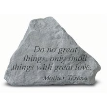 1dc63065f Kay Berry- Inc. 72720 Do No Great Things Only Small Things-Mother Teresa -  Memorial - 5.375 Inches x 4 Inches