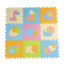 Joint Mat Interlocking Foam Mats EVA Foam Floor Mats (9 Tiles) Animals [D]