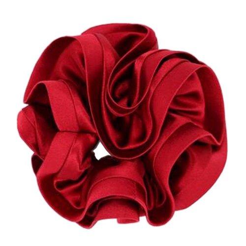 Elegant Scrunchie Elastics Ponytail Holder Hair Rope/Ties Red