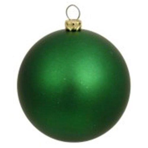 Vickerman N590722DG Cobalt Blue Glitter Drilled Ball Ornament - 2.75 in.