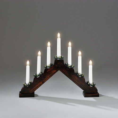 Xmas 40cm X 28cm Static Indoor Dark Brown  CANDLE ARCH / CANDLELIER/ bridge
