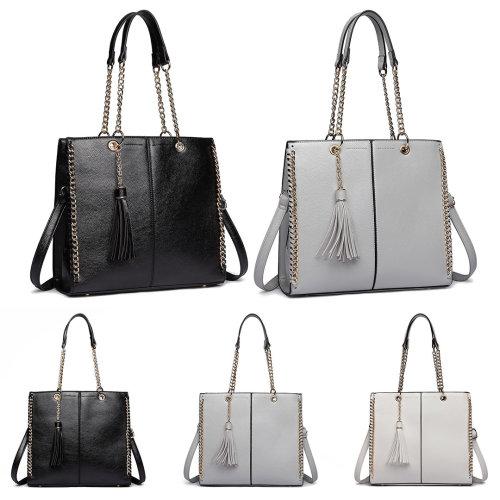 5c167623e0b Miss Lulu Women Designer Luxury Shoulder Bags Female Fashion PU Leather  Handbags Ladies Chain Tassel Tote Cross Body Bag on OnBuy