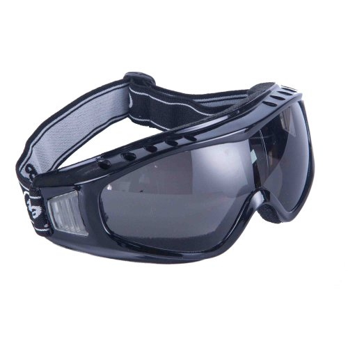 Babimax Outdoor Cool UV protection Anti-fog Anti-dust Safety Goggles Protective Glasses Eyewear Eye Welding Protection Dark Black