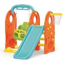 Dolu 4 in 1 Garden Kids Playground Outdoor Swing and Slide Set 18 Months +