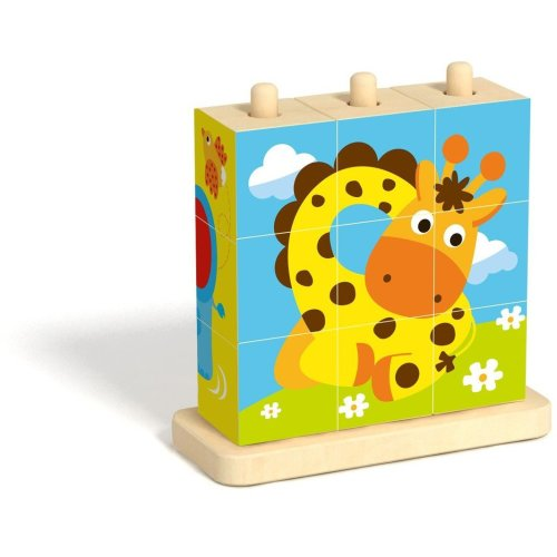 Wooden Animal Stacking Blocks Puzzle