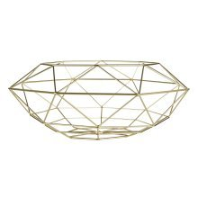 Vertex Fruit Basket, Geometric Style - Gold