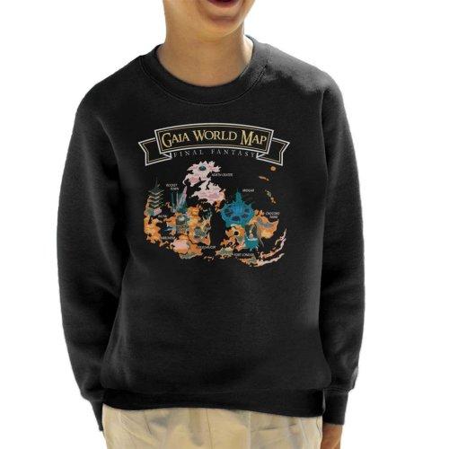 Final Fantasy Gaia World Map Kid's Sweatshirt