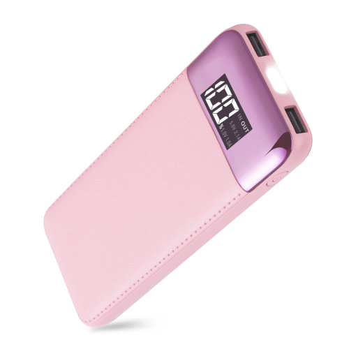 ARIO®18000mAh PU Leather Case PowerBank for all mobile phones (PINK)