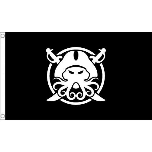 Davy Jones pirate  logo Flag  Size: 5 x 3 FT ( 150cm x 90cm)