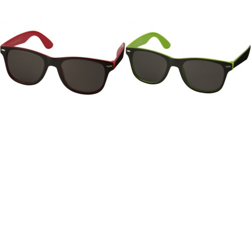 Bullet Sun Ray Sunglasses - Black With Colour Pop (Pack of 2)