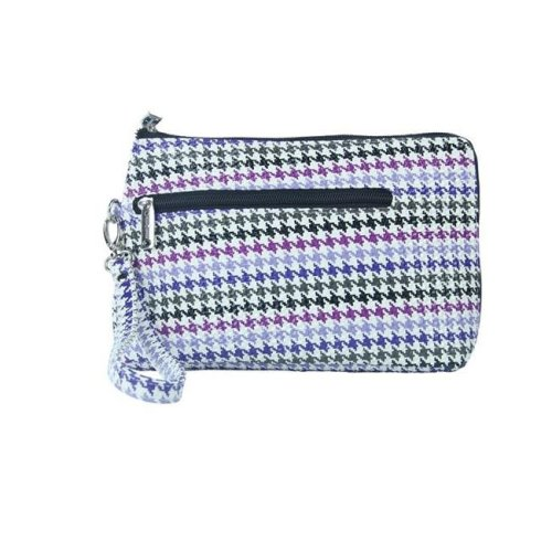 Picnic Gift 7320-HT French 75-Daily Essentials Cosmetics Bags with Removable Wristlet, Houndstooth
