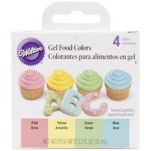 Gel Food Colors .3oz 4/Pkg-Pastel