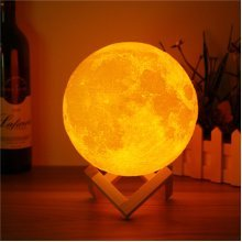 15cm 3D Magical Two Tone Moon Lamp