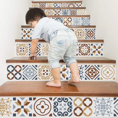 Walplus Tile Azulejo Wall Sticker Decal (Size: 15m x 15cm @ 24pcs)