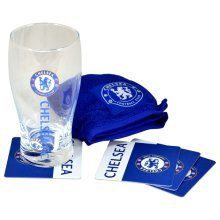 Chelsea Wordmark Mini Bar Set - Football Fc Official -  mini bar set chelsea football fc official