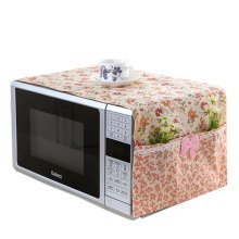 Floral Microwave Oven Accessory Protective Cover Dust-proof Covers, A