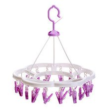Quality Circular Convenient Drip Hanger Drying Rack With 24 Clips ( Purple )