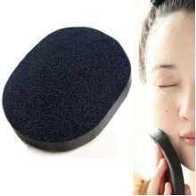 Soft Black Bamboo Charcoal Sponge Face Puff Cleaning Exfoliating Washing Cosmetic