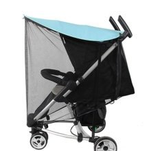 Soft Insect Netting Mosquito Nets Anti-UV Sunshade for Baby Stroller Cover-Blue