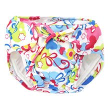 Reusable Swim Diaper Adjustable Absorbent Shower Diapers for Baby Toddler, A09