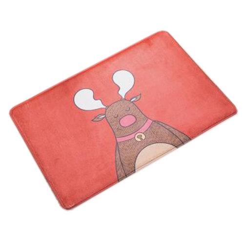 Household Outdoor/Indoor Doormats Antiskid Entrance Mat Carpet Happy Style, Deer - red