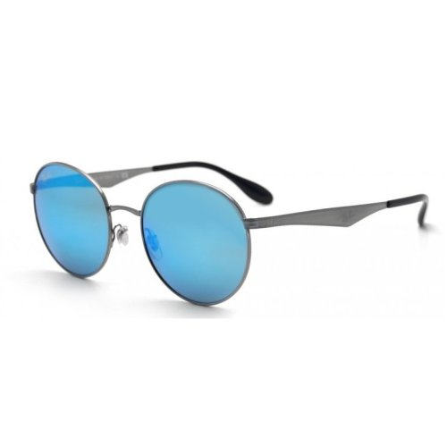 Ray-Ban Gunmetal Green Mirror Blue Sunglasses RB3537-004/55-51
