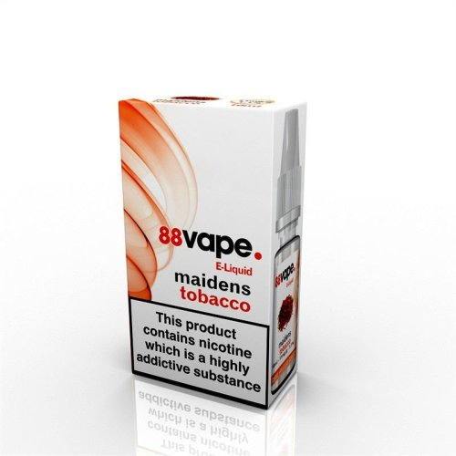 88 Vape E-Liquid Nicotine 11mg Maidens Tobacco 10ML
