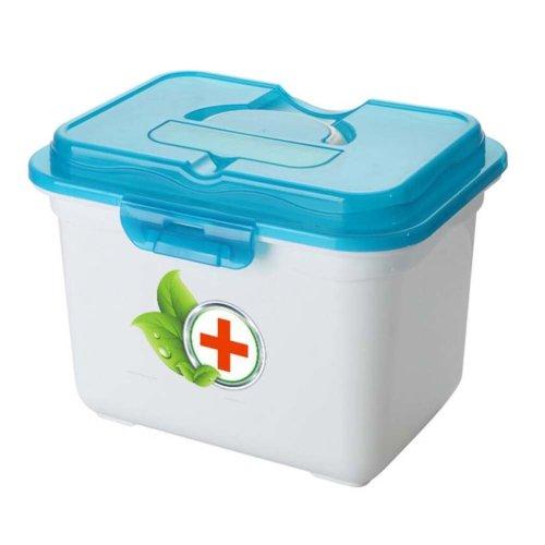 Creative Multi-cell Portable Medicine Kit Travel Medical Box-Blue