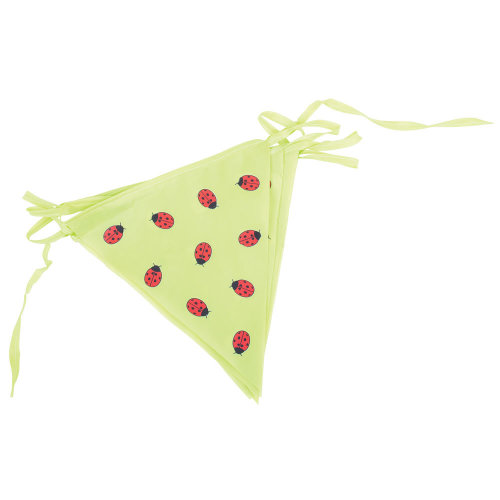 Bigjigs Toys Children's Green 3 Metre Bunting with Ladybirds - Garden Accessories and Decoration