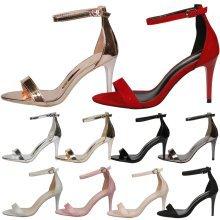 Ellen Ladies High Heels Stiletto Party Wedding Bridal Sandals