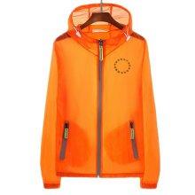 Waterproof Luminous Sun Protective Feather Clothing Cycling Climbing Long Sleeve Shirts-Orange