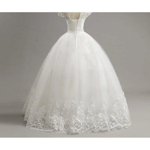 Customized Short Lace Sleeve Vintage Wedding Dress Princess Plus Size Bride Gowns Dresses Fashion vestido de noiva