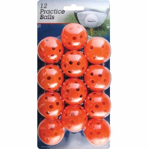 Intech Practice Balls with holes, 12 Pack (Orange)