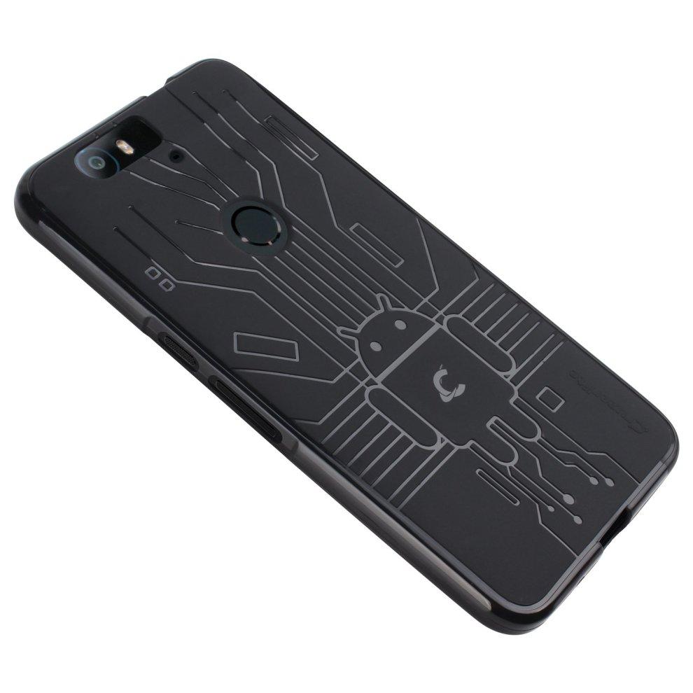 huge discount 8a31b ff2b7 Nexus 6P Case, Cruzerlite Bugdroid Circuit Case Compatible for Huawei Nexus  6P - Black