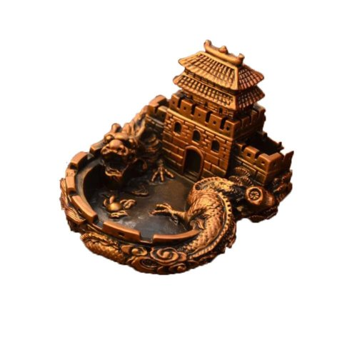 Chinese Style Dragon Design Ashtray for Home Office Tabletop Decoration