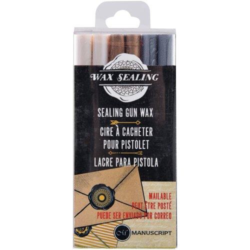 Sealing Gun Wax Sticks 6/Pkg-Pearl Gold Silver