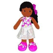 """GirlznDollz Emme Island Getaway Toddler Doll, Pink/White, 18"""""""