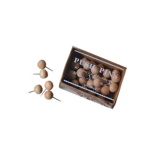 30 Retro Cute Wooden Pushpin Creative Word Nails Cork Nail Decoration