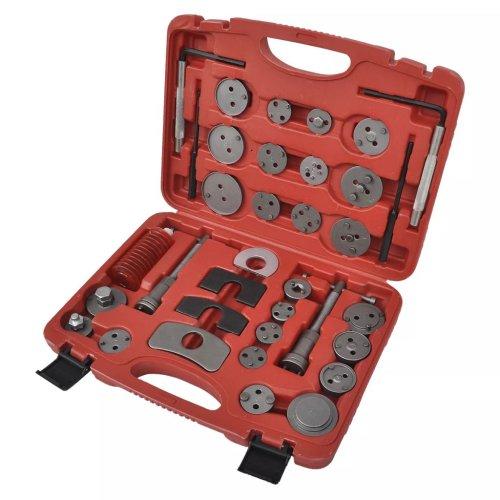 vidaXL Brake Caliper Piston Wind Back Tool Kit 35 pcs Pin Punch Hex Key Car